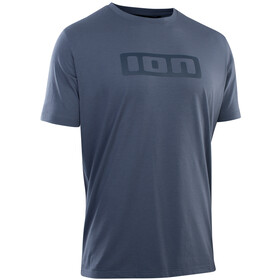 ION DriRelease Maglietta con logo LS Uomo, blu